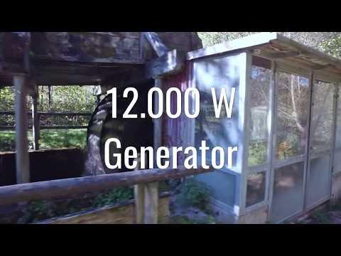 Hydro electric water wheel with generator in Egloffstein