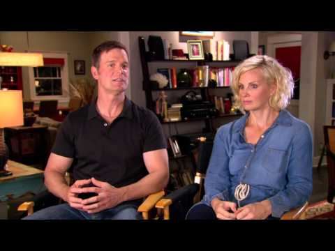 "Parenthood Season 5: Peter Krause & Moncia Potter ""Adam & Kristina Braverman"" On Set Interview"