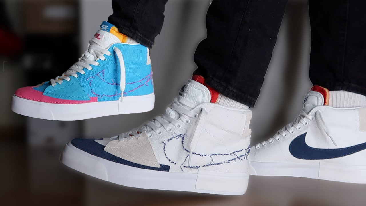 Watch Before You Buy Them!!! Nike SB Blazer Mid Edge Hack Pack ...