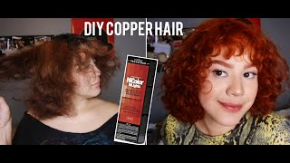 DIY Black/Brown to Copper Hair  Loreal HiColor