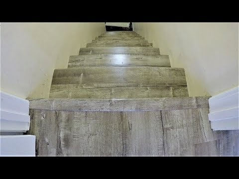 How to Laminate Stairs. Stair Noses. NO NAIL HOLES. Step by Step Installation. DIY. Shot with GoPro