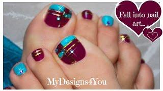 Color Block Toenail Art | Purple and Blue Pedicure ♥ Diseño de Uñas de Pies