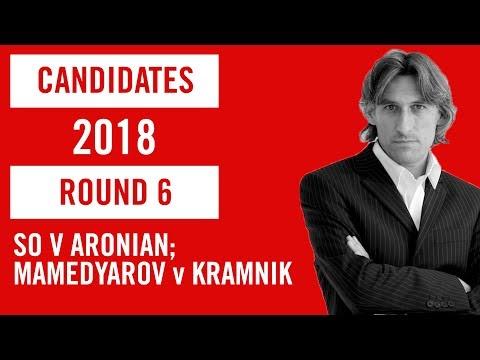 World Chess Candidates 2018 | Berlin | Round 6 - So v Aronian and Mamedyarov v Kramnik