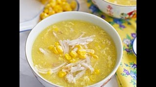 Chinese Chicken & Sweetcorn Soup - Healthy Dish