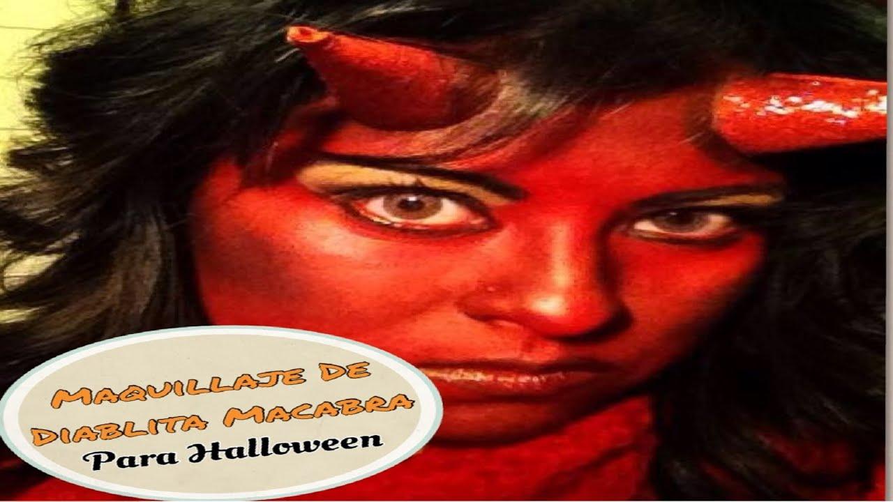 Maquillaje Para Halloween Diablita Macabra Youtube - Como-maquillar-a-una-diabla