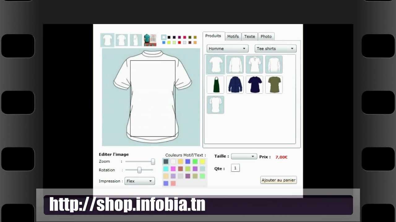 Design t shirt en ligne - Personnalisation D Objets En Ligne Prestashop
