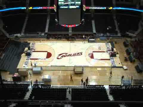 Quicken Loans Arena changeover