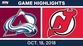 NHL Highlights | Avalanche vs. Devils - Oct. 18, 2018