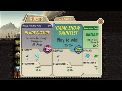 Fallout Shelter 1.7 Update: New Limited Time Quests And Weekly Quests And Bottlecap Blues
