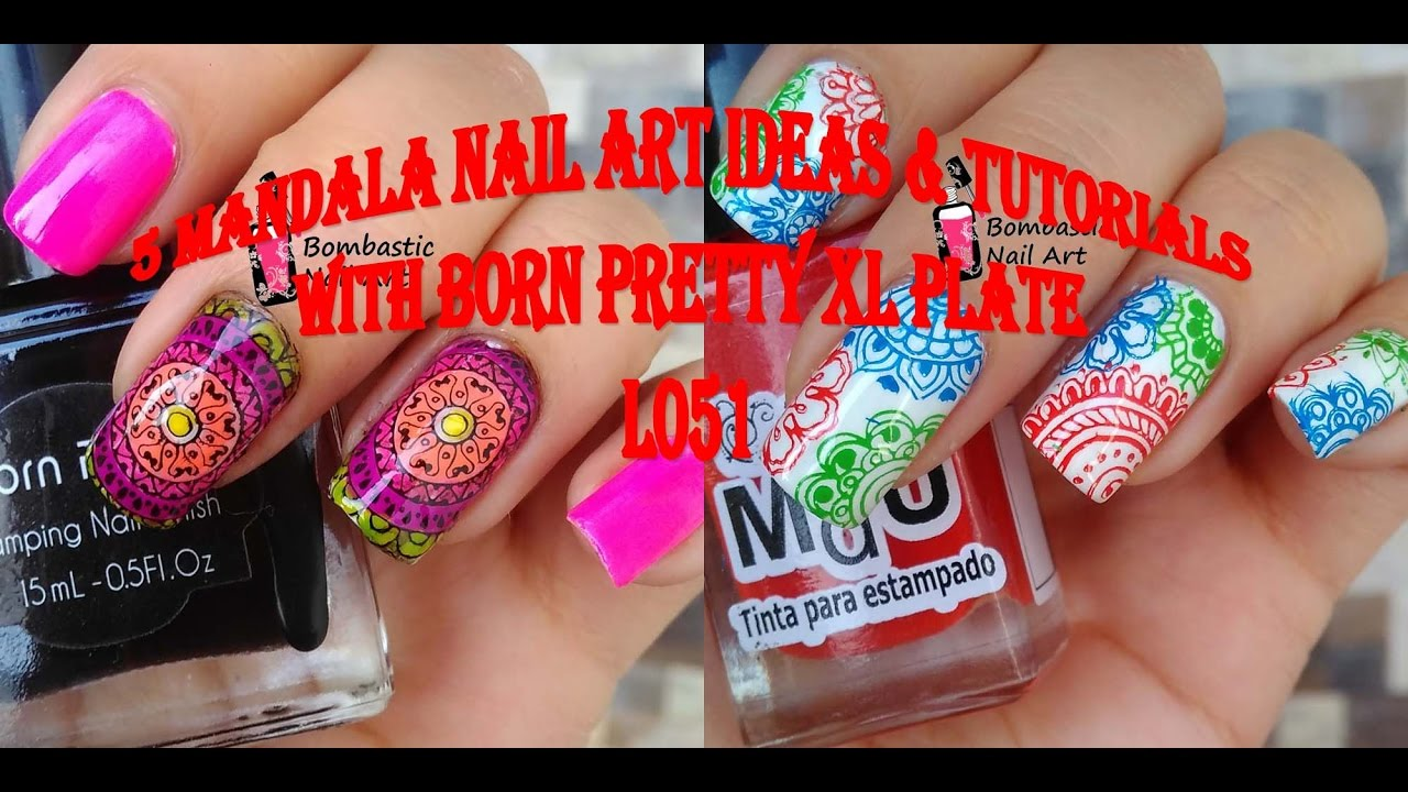 5 Mandala Stamping Nail Art Ideas Born Pretty Xl Plates Bp L051 Review