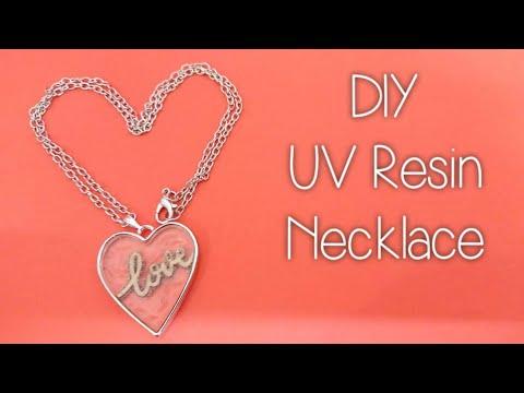 How To Make A UV Resin Necklace Using A Bezel | DIY Craft Tutorial | Valentines Craft Ideas S1 E2