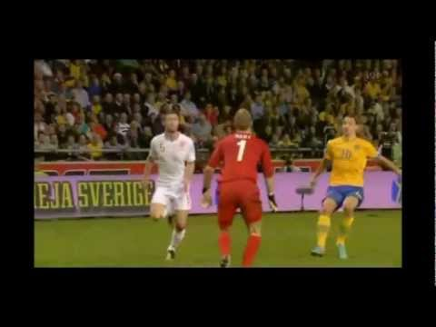 Zlatan Ibrahimovic 4 goals against England at Friends Arena Sweden 2012