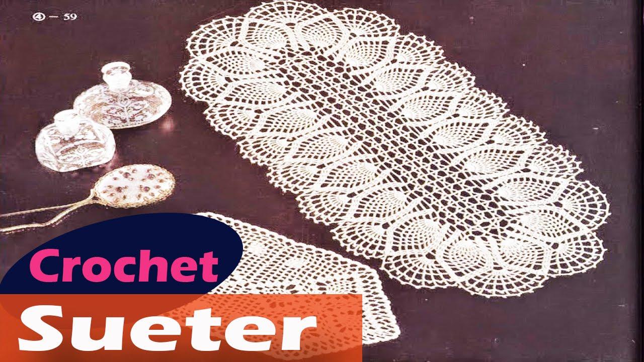 Centros de mesa Tejidos en crochet Diseños - YouTube