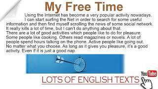My free time | Lots of English Texts with Audio