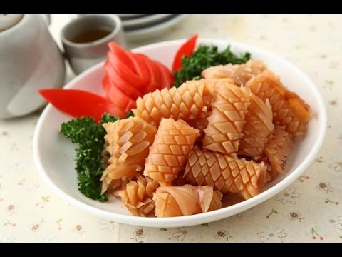 【楊桃美食網】如何切出漂亮魷魚花?