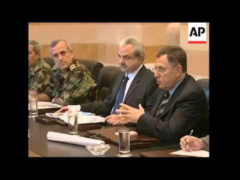 WRAP Lebanese PM, defence minister and head of army meet UN envoy