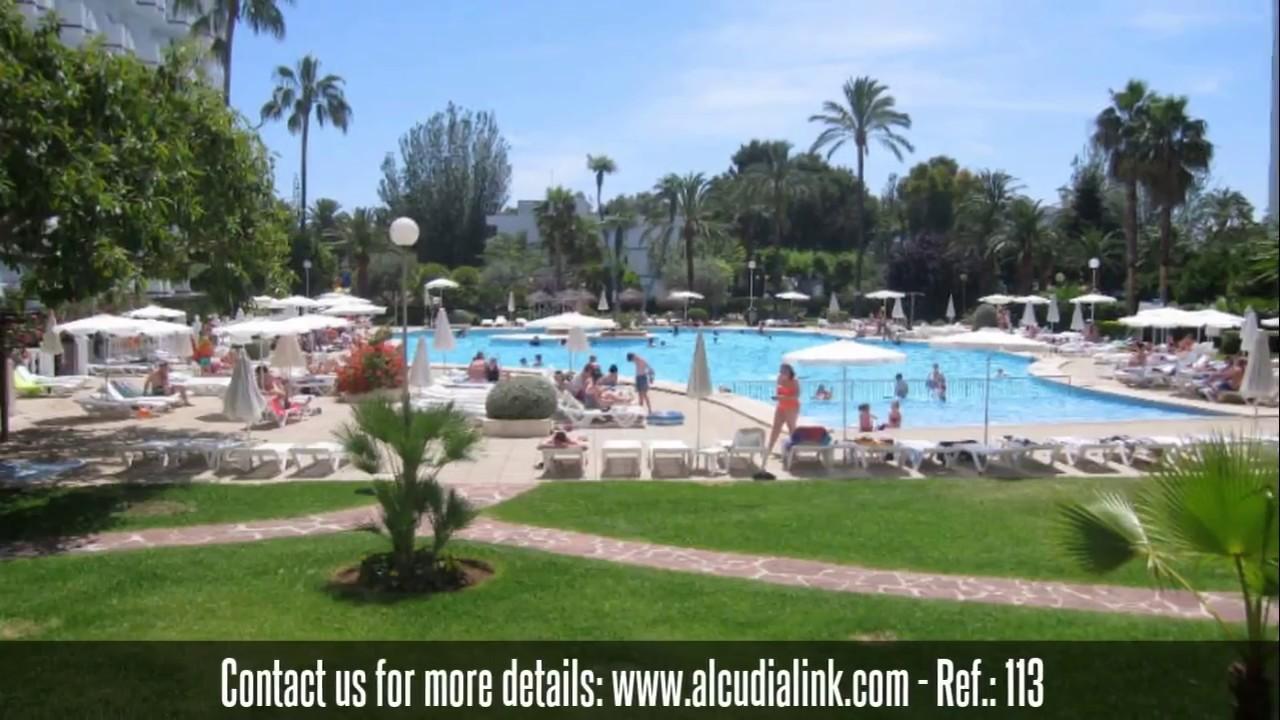 Studio for sale overlooking the pool in Siesta 1, Alcudia, Mallorca - YouTube