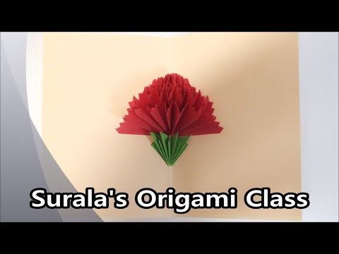 How to make a carnation pop up card origami youtube how to make a carnation pop up card origami mightylinksfo Images