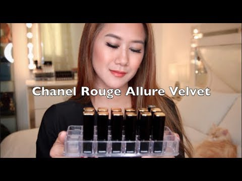 My Chanel Rouge Allure Velvet Lipstick Collection & Lips Swatches   Pinay Youtuber in Kuwait