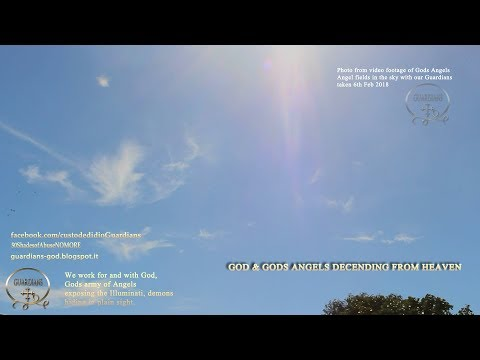 God and his Angels coming through Gods gateway in heaven live video 4-5-6 Feb 2018