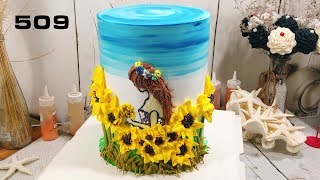 Royal cake decorating bettercreme (509) Học Bánh Kem Đơn Giản Đẹp - Cô Gái Mùa Hè (509)