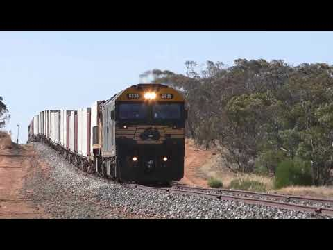 The Pacific National Freight Train around Manangatang and Ultima - The Mallee in Victoria's North