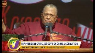 TVJ News: PNP President Criticizes Gov't on Crime & Corruption - September 22 2019