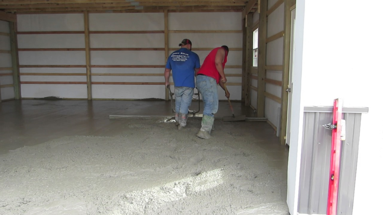 Smooth Finish Concrete Floor Newpolebarn