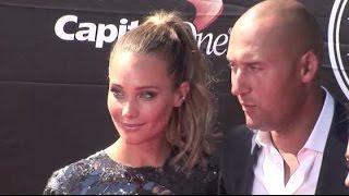 DEREK JETER and girlfriend HANNAH DAVIS attend ESPY Awards