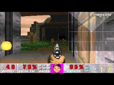 ZDaemon Free Doom single player map gameplay Review Magicolo