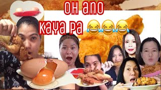 MUKBANG FRIED CHICKEN with EGGS BALANCE ON THE HEAD | COLLABORATION |
