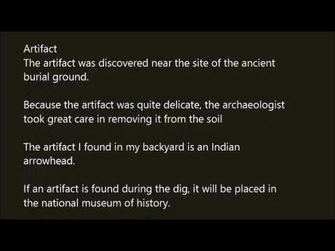 A sentence with the word archaeologist. Use archaeologist ...