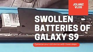 Swollen batteries of Samsung G…