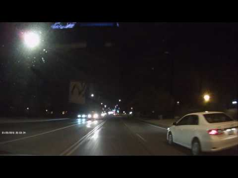 Uniden DCAM Dashcam Nightime Streetlight Performance