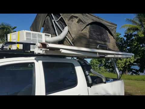 141 & XTM ROOF TOP TENT STANDARD. 1MIN SETUP - YouTube