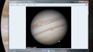 Planetary Image Processing in Registax and Photoshop Astrophotography