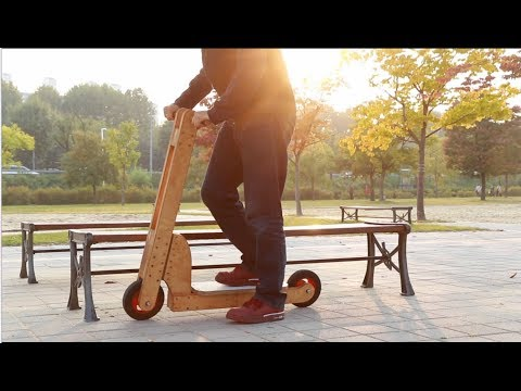 E01. 자작 DIY 킥보드 만들기(DIY wooden kick scooter)