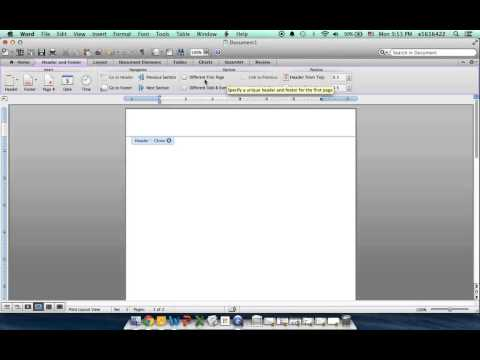 How to Customize Headers on the First Page Only in Your Word Document
