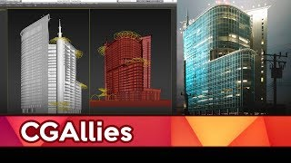 Симон Чуков - Архитектура: спид-моделинг небоскребов (3ds Max, Redshift render).