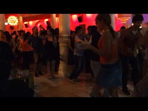 Mark & Steffi dancing salsa at Establishment, Sydney, March 2013