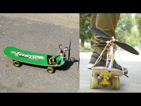 how to make electric skate boat at home