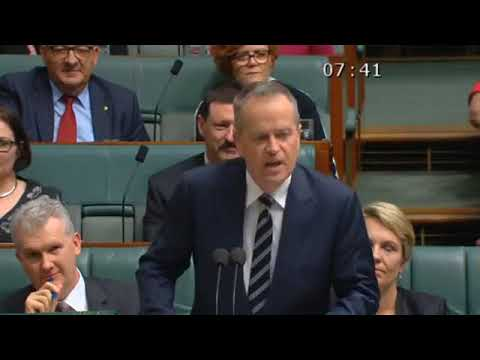Bill Shorten MP   Bill Shorten LIVE from Parliament House Motion To Stop Standing Orders 21 Aug   20