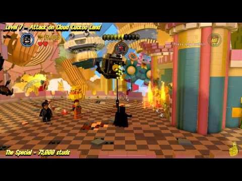 The Lego Movie Videogame: Level 7 Attack on Cloud Cuckoo Land -  STORY Walkthrough - HTG