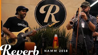 Victor Wooten Plays and Educates at the Reverb Booth | Winter NAMM 2018