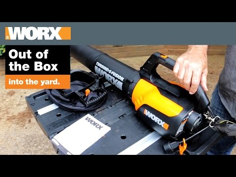 worx-turbine-fusion-leaf-blower-|-out-of-the-box-into-the-yard