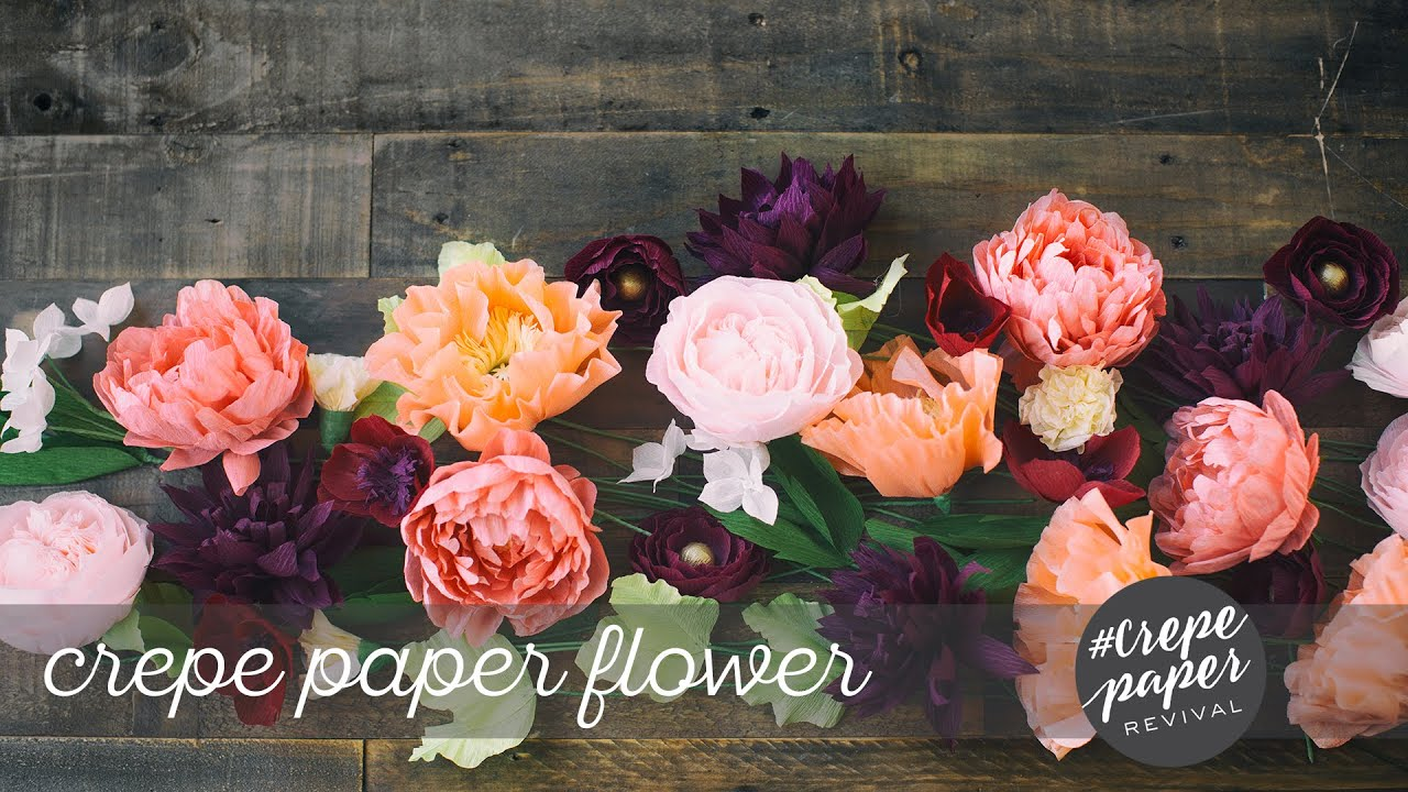 Lia Griffith Crepe Paper Flowers Youtube