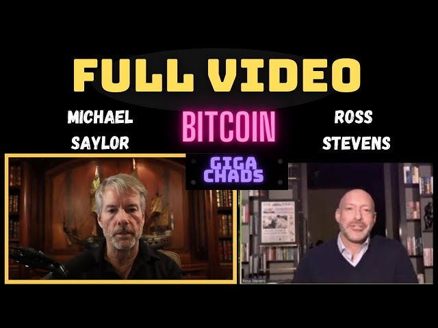 FULL VIDEO: A Mind Blowin'  |  Ross Stevens & Michael Saylor Discuss #Bitcoin