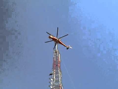 TV Antenna Helecopter Pick WLOS Mount Pisgah NC