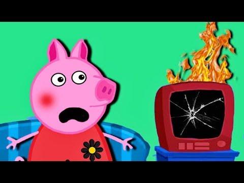 Мультики СВИНКА ВЕРНУЛАСЬ  Папа свинок сломал телевизор  Мультфильмы для детей на русском - Cмотреть видео онлайн с youtube, скачать бесплатно с ютуба