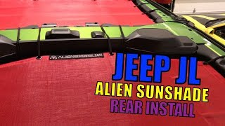 Jeep JL Rear Alien Sunshade Install on the Mojito Jeep